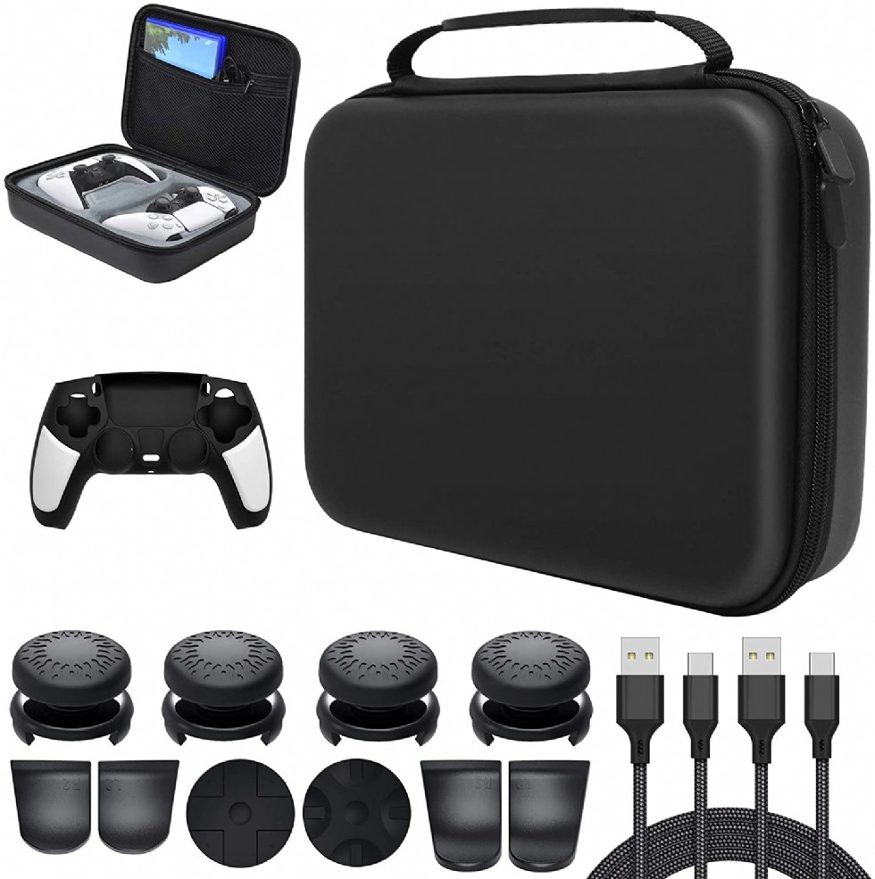 Carrying Case With Cover Protector For Ps5 Dualsense Wireless Controll
