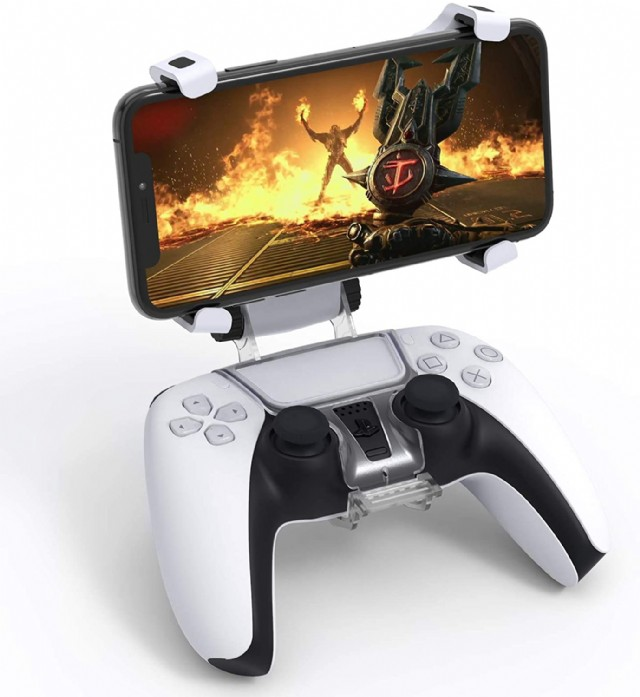 Upgraded Phone Controller Mount For Ps5 Dualsense Wireless Controller