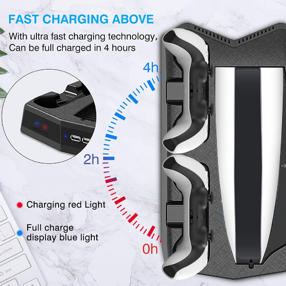 Kodu: 10202 - Dlseego Charging Stand For Ps5 With Cooling Fan