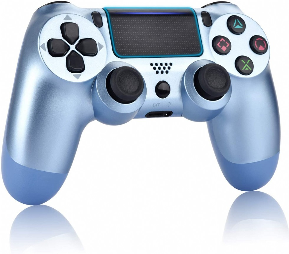 Kodu: 10401 - Ps4 Controller With Dualshock And Charging Cables, Titanium Blue