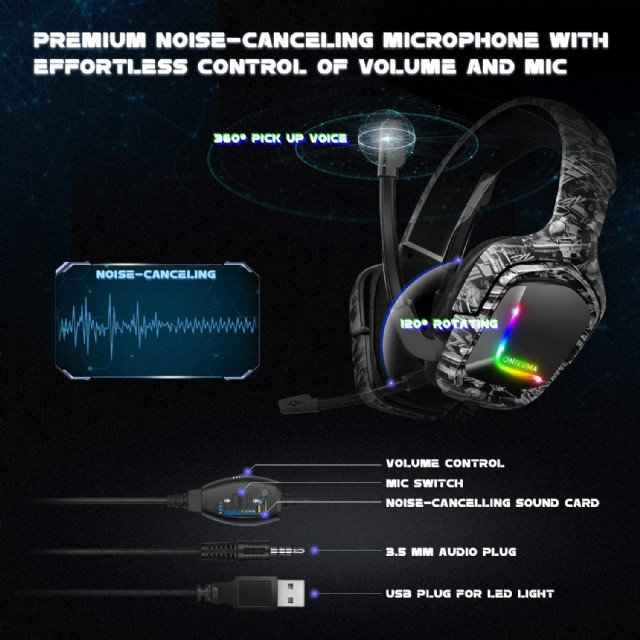 Gaming Headset For Ps4 Headsets With Mic
