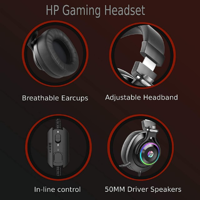 Hp Wired Gaming Headphones Xbox One Headset With Surround Sound