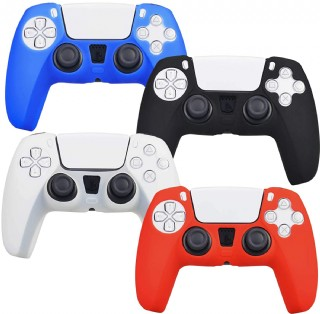 4 Pack Silicone Case Cover Skins For Ps5 Dualsense Controller