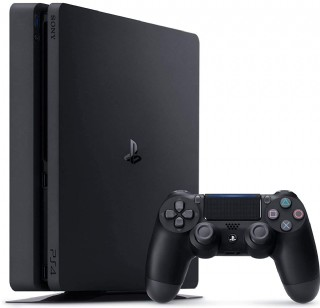 Sony Playstation 4 Console - 1tb Slim Edition Jet Black With 1 Dualshock 4 Wireless