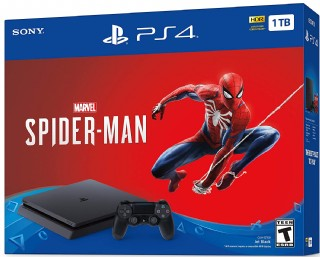 Sony Playstation 4 Slim Black 1tb Console - Marvel's Spider-man Bundle
